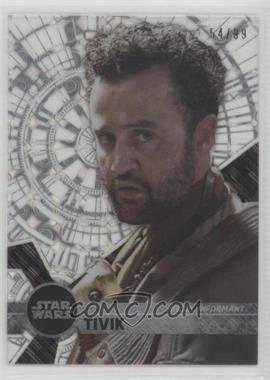 2017 Topps Star Wars High Tek - [Base] - Pattern 1 Tidal Diffractor #78 - Form 2 - Tivik /99