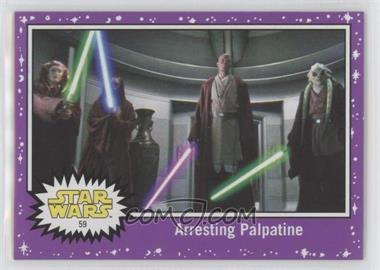 2017 Topps Star Wars: Journey to The Last Jedi - [Base] - Purple Starfield #59 - Arresting Palpatine