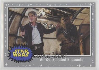 2017 Topps Star Wars: Journey to The Last Jedi - [Base] - Silver Starfield #77 - An Unexpected Encounter