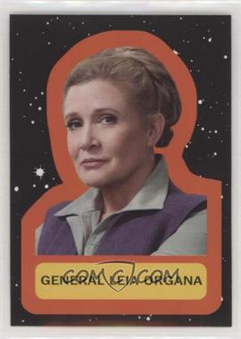 2017 Topps Star Wars: Journey to The Last Jedi - Character Retro Stickers #8 - General Leia Organa