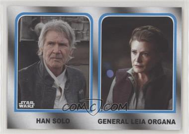 2017 Topps Star Wars: Journey to The Last Jedi - Family Legacy - Wal-Mart #1 - Han Solo, General Leia Organa