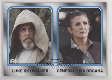 2017 Topps Star Wars: Journey to The Last Jedi - Family Legacy - Wal-Mart #2 - Luke Skywalker, General Leia Organa