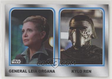 2017 Topps Star Wars: Journey to The Last Jedi - Family Legacy - Wal-Mart #4 - General Leia Organa, Kylo Ren