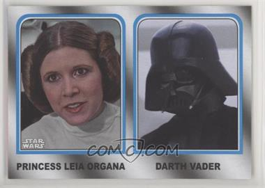 2017 Topps Star Wars: Journey to The Last Jedi - Family Legacy - Wal-Mart #6 - Princess Leia Organa, Darth Vader