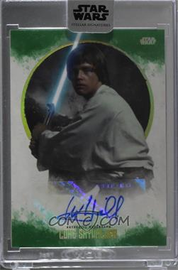 2017 Topps Star Wars: Stellar Signatures - [Base] - Green #MAHA - Mark Hamill as Luke Skywalker /20 [Uncirculated]