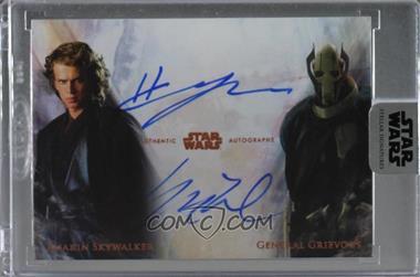 2017 Topps Star Wars: Stellar Signatures - Dual Autographs #DA-CW - Hayden Christensen as Anakin Skywalker, Matthew Wood as General Grievous /1 [Uncirculated]