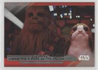 Chewie and a Porg on the Falcon /99