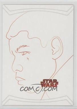 2017 Topps Star Wars: The Last Jedi - Red Line Artwork #RL-7 - Finn