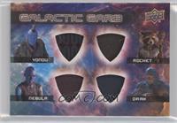 Yondu, Nebula, Rocket, Drax