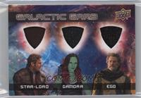 Star-Lord, Gamora, Ego