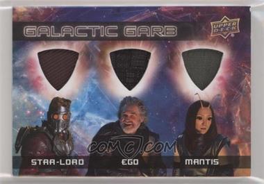 2017 Upper Deck Guardians of the Galaxy Volume 2 - Galactic Garb Triple #TM-5 - Star-Lord, Ego, Mantis