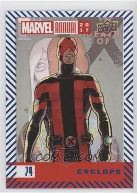 2017 Upper Deck Marvel Annual - [Base] - Blue Foil #74 - Cyclops