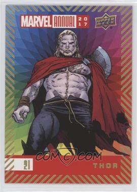 2017 Upper Deck Marvel Annual - [Base] - Color Wheel #21 - Thor