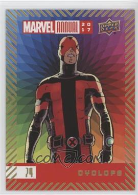 2017 Upper Deck Marvel Annual - [Base] - Color Wheel #74 - Cyclops