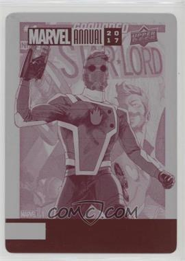 2017 Upper Deck Marvel Annual - [Base] - Printing Plate Magenta #23 - Star-Lord /1