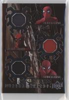 Spider-Man Homemade Suit Hood, Spider-Man Stark Suit Black Torso-Blue Torso