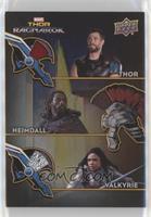 Thor, Heimdall, Valkyrie