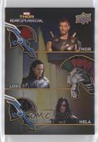Thor, Loki, Hela