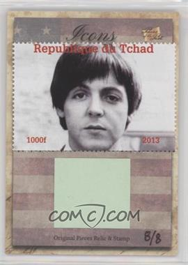 2018 The Bar Pieces of the Past Hybrid Edition - Icons Stamp/Relic #PAMC.1 - Paul McCartney (Beatle Paul) /8