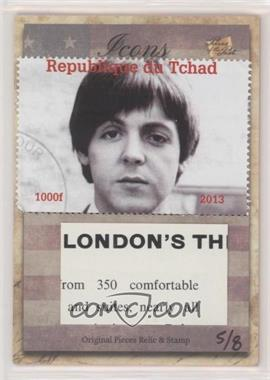 2018 The Bar Pieces of the Past Hybrid Edition - Icons Stamp/Relic #PRH-ICONS - Paul McCartney /8