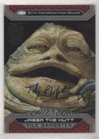 Toby Philpott as Jabba The Hutt (2015 Topps Star Wars Chrome Perspectives) #/32
