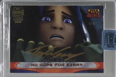 2018 Topps Archives Star Wars Signature Edition Buybacks - [Base] #15SWR-69 - Taylor Gray as Ezra Bridger (2015 Star Wars Rebels) /8 [Buy Back]