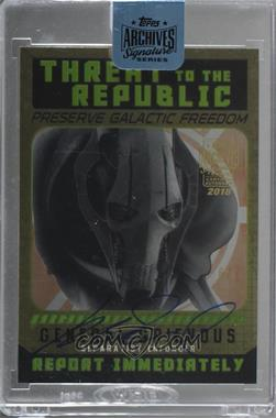 2018 Topps Archives Star Wars Signature Edition Buybacks - [Base] #15TCPTttR-4 - General Grievous (2015 Star Wars Chrome Perspectives Threat to the Republic) /6 [BeingRedeemed]