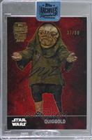 Quiggold (2015 Topps The Force Awakens) [BuyBack] #/50