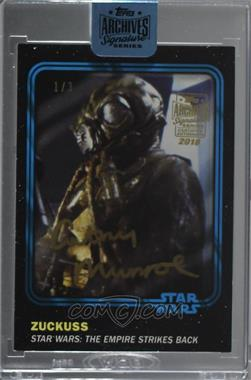 2018 Topps Archives Star Wars Signature Edition Buybacks - [Base] #16SWCT-37 - Cathy Munroe as Zuckuss (2016 Star Wars Card Trader) /3 [BuyBack]