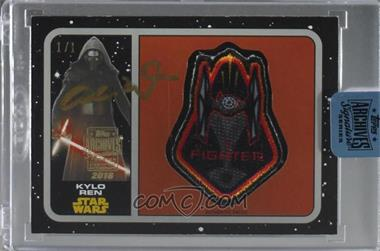 2018 Topps Archives Star Wars Signature Edition Buybacks - [Base] #16TFA-P11 - Kylo Ren /1 [Buy Back]