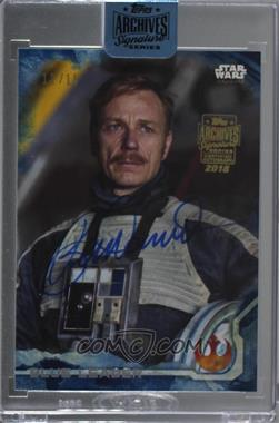 2018 Topps Archives Star Wars Signature Edition Buybacks - [Base] #16TRO-9 - Ben Daniels as Blue Leader (2016 Topps Star Wars Rogue One) /15 [Buy Back]