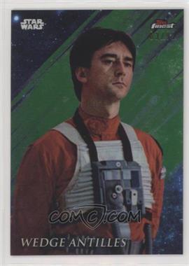 2018 Topps Finest Star Wars - [Base] - Green Refractor #95 - Wedge Antilles /99