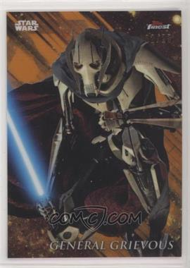 2018 Topps Finest Star Wars - [Base] - Orange Refractor #37 - General Grievous /25