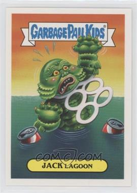 2018 Topps Garbage Pail Kids Oh, the Horror-ible - Classic Film Monster Sticker #10a - Jack Lagoon