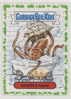 2018 Topps Garbage Pail Kids Oh, the Horror-ible - Folklore Monster Sticker - Phlegm #4b - Gianna Squid