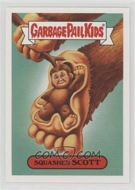 2018 Topps Garbage Pail Kids Oh, the Horror-ible - Folklore Monster Sticker #1a - Squashed Scott