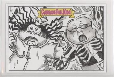 2018 Topps Garbage Pail Kids We Hate the '80s - Double Artist Panoramic Sketch Cards #MJG - Marisol H. Josh Ginter /1