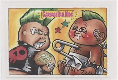 2018 Topps Garbage Pail Kids We Hate the '80s - Double Artist Panoramic Sketch Cards #PGGW - Patrick Giles, Gavin Williams /1