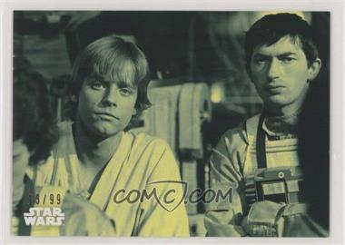 2018 Topps Star Wars Black and White - [Base] - Green #121 - Luke and Wedge /99