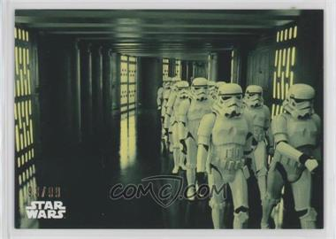2018 Topps Star Wars Black and White - [Base] - Green #74 - March of the Stormtroopers /99