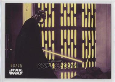 2018 Topps Star Wars Black and White - [Base] - Purple #113 - Darth Vader: Victorious /25