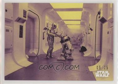 2018 Topps Star Wars Black and White - [Base] - Purple #2 - Crossing Through Blaster Fire /25