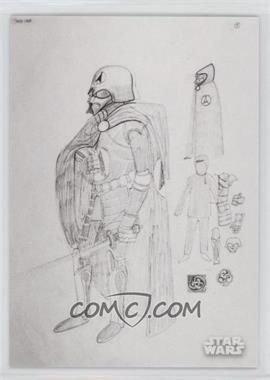 2018 Topps Star Wars Black and White - Concept Art #CA-1 - Darth Vader