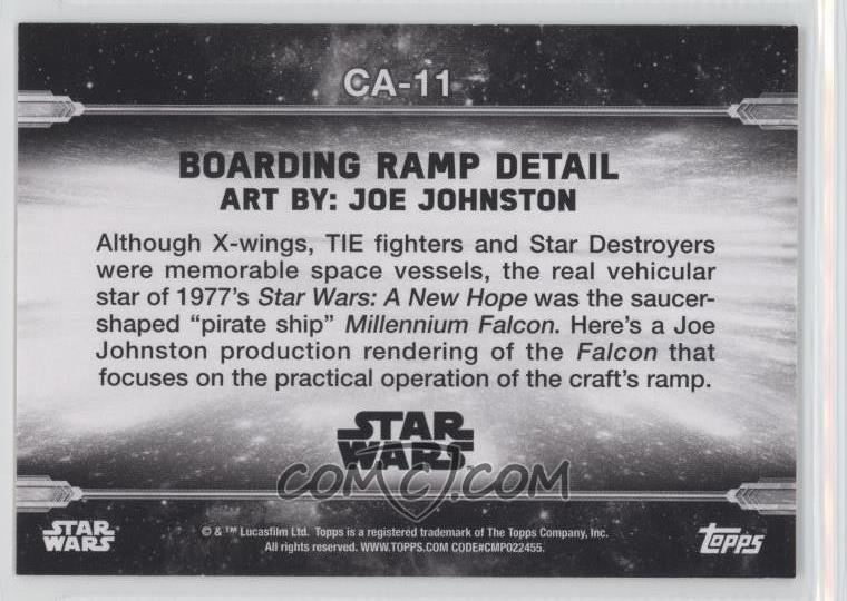 2018 Topps Star Wars Black and White - Concept Art #CA-11