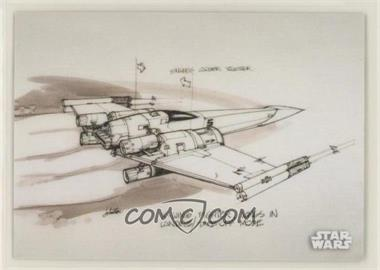 2018 Topps Star Wars Black and White - Concept Art #CA-2 - X-Wing Fighter
