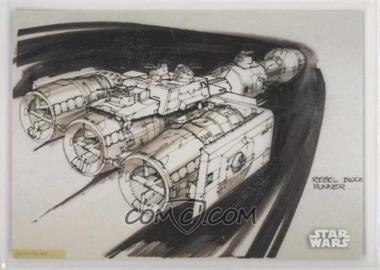 2018 Topps Star Wars Black and White - Concept Art #CA-8 - Rebel Blockade Runner
