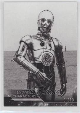 2018 topps star wars black and white iconic characters ic 6 c