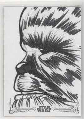 2018 Topps Star Wars Black and White - Sketch Cards #PAGI - Patrick Giles /1