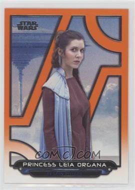 2018 Topps Star Wars Galactic Files Reborn - [Base] - Orange #ESB-19 - Princess Leia Organa