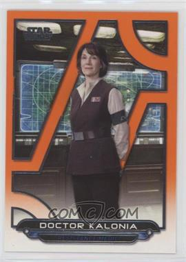 2018 Topps Star Wars Galactic Files Reborn - [Base] - Orange #TFA-40 - Doctor Kalonia